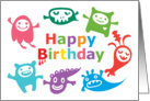 Monster Buddies Birthday card