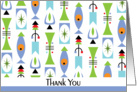 Thank You card with retro shapes card
