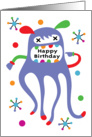 Monster Shout Out Birthday card