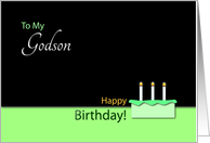Happy Birthday�Godson�- Cake and Candles card