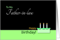 Happy Birthday�Father-in-law�- Cake and Candles card