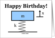 Happy Birthday! (Physics Mass Spring Damper Illustration) card