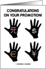 Congratulations On Your Promotion! (Silhouette Money Hands) card