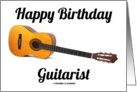 Happy Birthday Guitarist (Acoustic Guitar) card
