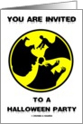 You Are Invited To A Halloween Party (Radioactive Zombies) card
