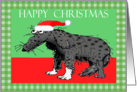 Happy Christmas, missing you,sad dog, humor card