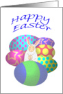 Happy Easter Bunny and Easter Eggs card