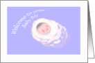 Welcome to your Baby Boy, Congratulations.sleeping baby card