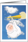 Invitation to Naming ceremony ,Baby, stork and baby card