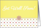 Get Well Soon - Pink and Yellow Flowers card