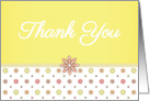 Thank You - Pink and Yellow Flowers card