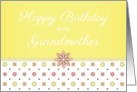 Happy Birthday to my Grandmother - Pink and Yellow Flowers card