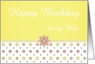 Pink and Yellow Flowers to Customize for Wife Birthday or Any Occasion card
