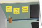 Happy Birthday, Boss! - Office Cubicle card