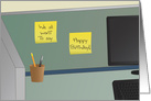 Happy Birthday, From All of Us! - Office Cubicle card