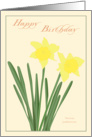 Happy Birthday - Daffodils card