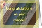Congratulations on Your Remodel card