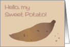Hello, My Sweet Potato on Valentine's Day card