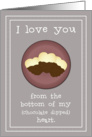 I Love You - Chocolate Dipped Cookies for Valentine's Day card