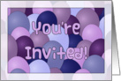 You're Invited with Purple and Blue Balloons card