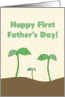 Green Sprout Family for First Father's Day card