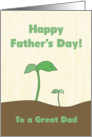 Green Sprout Dad & Child for Father's Day card
