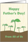 Green Sprout Dad & Kids From All 4 Kids on Father's Day card