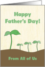 Green Sprout Dad & Kids From All 3 Kids on Father's Day card