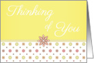 Thinking of You - Pink and Yellow Flowers card
