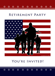 Military Retirement Party Invitation Greeting Card