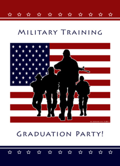 Military Training Graduation Party Invitation Greeting Card