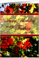 Happy Birthday to My Father-in-Law-Fall Leaves card