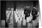 Support Our Troops - Marine body bearers Arlington National Cemetery card