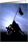 Welcome Home - Marine Iwo Jima War Memorial card