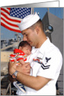 Welcome Home - Navy Dad card