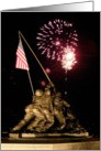 Birthday - Iwo Jima Memorial and Fireworks card