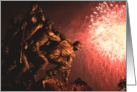 Birthday - Marine War Memorial Fireworks card