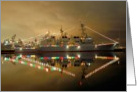 Happy Holidays - USS John Paul Jones holiday lights card