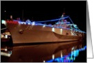 Happy Holidays - USS Blue Ridge holiday lights card