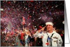 Blank - Sailor salutes at Boston Pops card