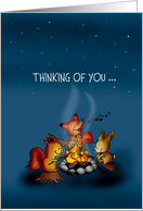 Summer Camp - Thinking of you - Firecamp Friends card