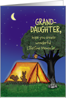 Summer Camp - Granddaughter - Humorous - Flashlights in Tent card