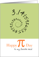Happy Pi Day to Nerd, 3.14 card