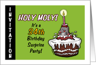 Humorous - 34th Birthday Invitation -Surprise Party - thirty-fourth card