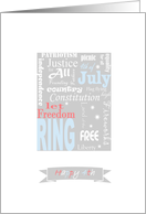 Patriotic wordplay - Happy 4th of July Valued Partners card