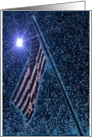 Military Service to our Country, Flag at Night, Support Our Troops card