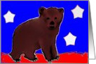 Patriotic Bear Cub card