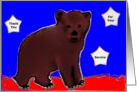 Military Service Thank You Bear Cub card