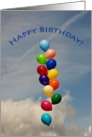 Birthday Child Adult - Balloons card