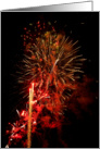 Fourth of July - Independence Day - Fireworks card
